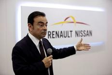 Carlos Ghosn, Chairman and CEO of the Renault-Nissan Alliance, attends a round table discussion during Auto China 2016 auto show in Beijing April 25, 2016. REUTERS/Kim Kyung-Hoon