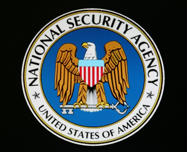 The logo of the U.S. National Security Agency is seen in Fort Meade, Maryland, January 25, 2006.