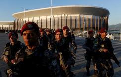 Integrantes da Força Nacional no Parque Olímpico, no Rio  5/7/2016 REUTERS/Bruno Kelly