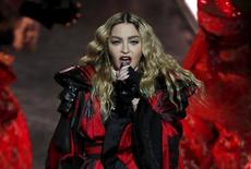 Madonna performs during her Rebel Heart Tour concert at Studio City in Macau, China February 20, 2016.   REUTERS/Bobby Yip/File Photo