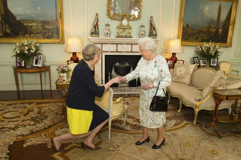 Image result for may at buckingham palace to become pm