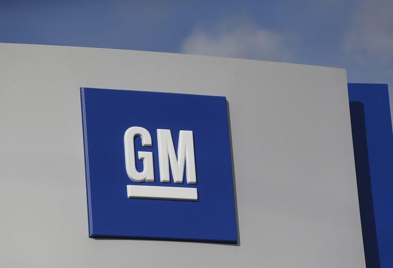 The GM logo is seen at the General Motors Warren Transmission Operations Plant in Warren, Michigan October 26, 2015.    REUTERS/Rebecca