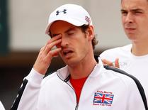 Britain Tennis - Serbia v Great Britain - Davis Cup Quarter Final - Tasmajdan Stadium, Belgrade, Serbia - 16/7/16 Great Britain's Andy Murray Action Images via Reuters / Jason Cairnduff Livepic