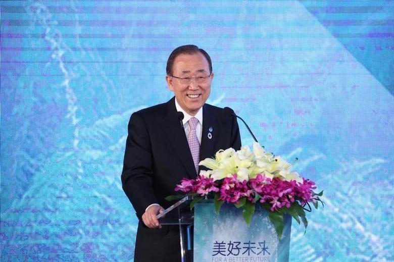 U.N. Secretary-General Ban Ki-moon in Hangzhou, Zhejiang Province, China, July 9, 2016. REUTERS/Stringer