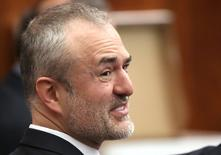 Nick Denton, founder of Gawker, talks with his legal team before Terry Bollea, aka Hulk Hogan, testifies in court, in St Petersburg, Florida March 8, 2016.  REUTERS/Tampa Bay Times/John Pendygraft/Pool/File Photo