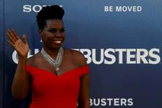 "Cast member Leslie Jones poses at the premiere of the film ""Ghostbusters"" in Hollywood, California U.S., July 9, 2016. REUTERS/Mario Anzuoni"