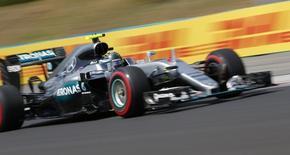 Mercedes' Nico Rosberg during practice. REUTERS/Laszlo Balogh
