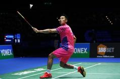 Badminton - Yonex All England Open Badminton Championships - Barclaycard Arena, Birmingham - 13/3/16 China's Lin Dan in action during the men's singles final  Action Images via Reuters / Andrew Boyers Livepic