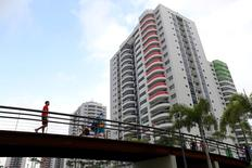 Aug 2, 2016; Rio de Janeiro, Brazil; A view of the Athlete Village prior to the 2016 Rio Olympics games. Mandatory Credit: Peter Casey-USA TODAY Sports