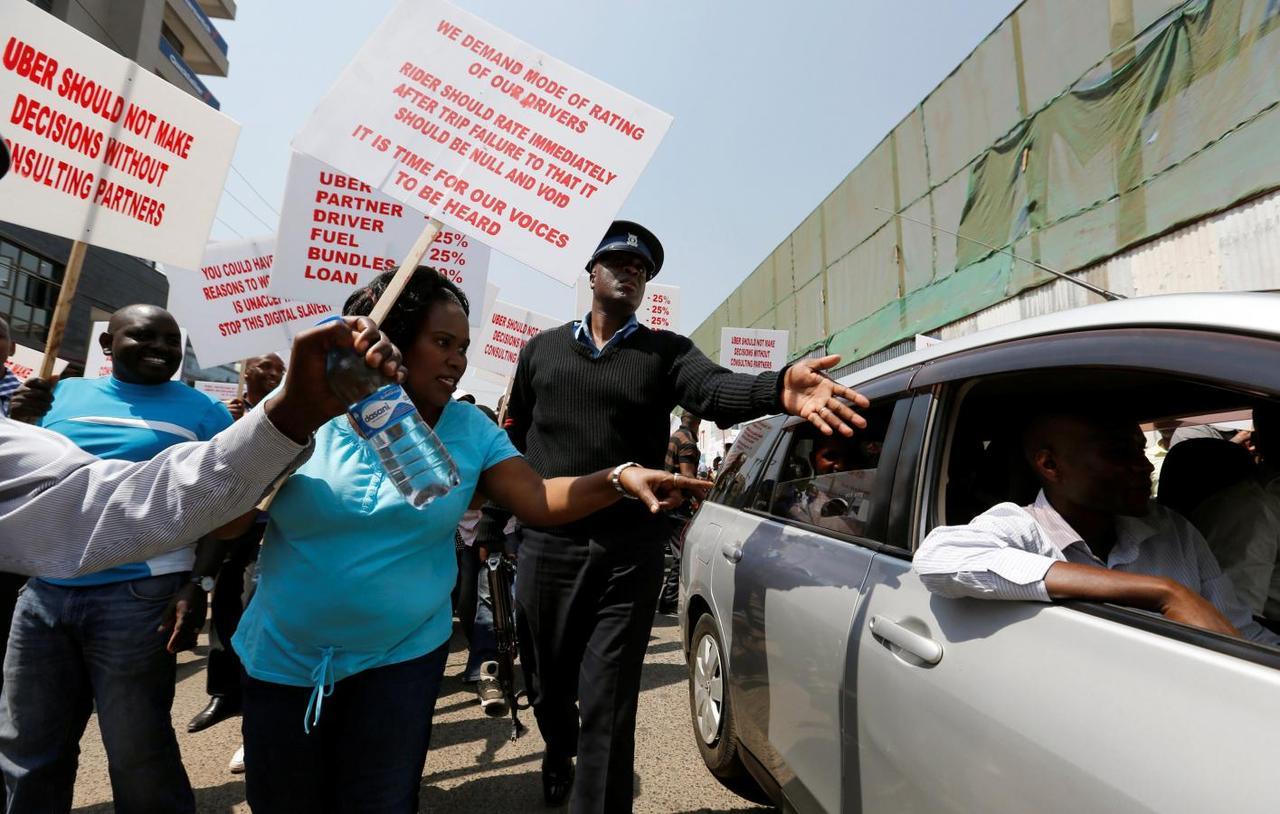 Hundreds of Uber drivers in Kenya go on strike after price