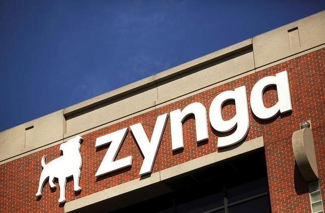 The Zynga logo is pictured at the company's headquarters in San Francisco, California April 23, 2014.   REUTERS/Robert Galbraith/File Photo