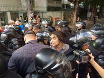 Protesto nos arredores do Maracanã 05/08/2016  REUTERS/Pedro Fonseca