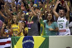 Torcedores vistos em partida de basquete na Rio 2016.   08/08/2016         REUTERS/Shannon Stapleton