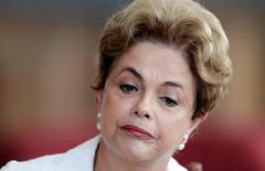 A presidente afastada Dilma Rousseff participa de coletiva com imprensa internacional em Brasília, Brasil 13/05/2016 REUTERS/Ueslei Marcelino