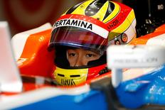 Rio Haryanto of Manor during practice Reuters / Andrew Boyers
