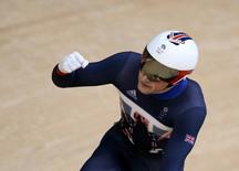 2016 Rio Olympics - Cycling Track - Semifinal - Men's Sprint Semifinals Race  - Rio Olympic Velodrome - Rio de Janeiro, Brazil - 13/08/2016. Jason Kenny (GBR) of Britain reacts.   REUTERS/Eric Gaillard