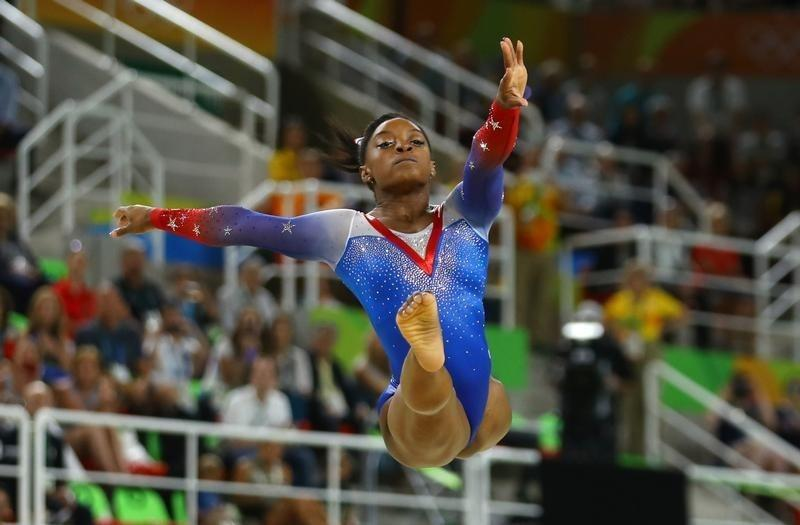 Gymnastics Biles Signs Off With Record Equaling Fourth Gold