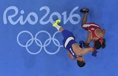 Lutadores durante combate na Rio 2016.    15/08/2016       REUTERS/Pool