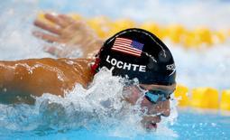 2016 Rio Olympics - Swimming - Semifinal - Men's 200m Individual Medley Semifinals - Olympic Aquatics Stadium - Rio de Janeiro, Brazil - 10/08/2016. Ryan Lochte (USA) of USA competes REUTERS/Michael Dalder