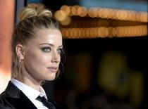 "Cast member Amber Heard poses during the premiere of the film ""The Danish Girl"" in Los Angeles, California November 21, 2015. REUTERS/Kevork Djansezian"