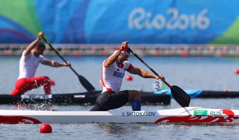 Aug 15 2016 Rio De Janeiro Brazil Ilia Shtokalov RUS During The Mens Canoe Single 1000m Sprint Semifinal Competition In Summer Olympic