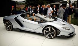 The Lamborghini Centenario Roadster is unveiled during The Quail, A Motorsports Gathering, in Carmel, California, U.S. August 19, 2016. The Revs Institute/Michael Fiala