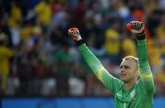 Governo holandês Cillessen durante jogo da Copa de 2014. 23/06/2014 REUTERS/Sergio Moraes