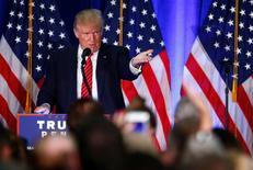 Candidato republicano à Presidência dos EUA, Donald Trump, fala na Youngstown State University, em Ohio 15/08/2016 REUTERS/Eric Thayer