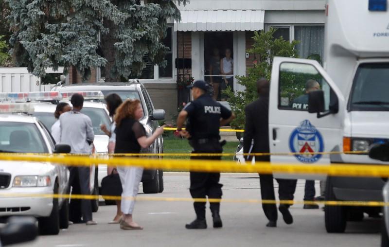 Three die in crossbow attack in Toronto, man in custody: police