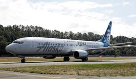 An Alaska Airlines plane is pictured in Seattle, Washington July 15, 2016.  REUTERS/Jason Redmond