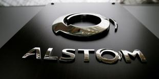 The logo of Alstom Group is seen at the company's headquarters Saint-Ouen, near Paris, France, May 11, 2016. REUTERS/Gonzalo Fuentes/File Photo