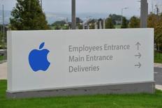 La entrada de Apple Operations International, una filial de Apple Inc, en Hollyhill, Cork, sur de Irlanda, 30 de agosto de 2016. El Tesoro de Estados Unidos mantuvo el miércoles la presión sobre la Unión Europea para revierta su decisión de exigir a  Apple el pago de hasta 14.500 millones de dólares en impuestos, una medida que según Washington viola las normas fiscales y establece un precedente para más acciones contra firmas estadounidenses. REUTERS/Stringer