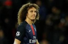 David Luiz em jogo do Paris St Germain contra o Manchester City.  6/4/16 Action Images via Reuters / John Sibley