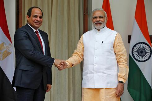 Egyptian president in India