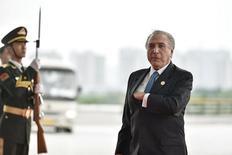 O presidente brasileiro Michel Temer chega no Centro de Exposições de Hangzhou para a Cúpula do G20 em Hangzhou, na província de Zhejiang, na China 04/09/2016 REUTERS/Etienne Oliveau/Pool