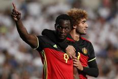 Lukaku comemora gol da Bélgica.  6/9/16.  REUTERS/Yiannis Kourtoglou
