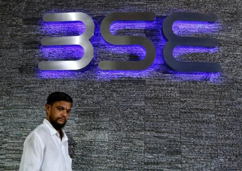 A man walks out of the Bombay Stock Exchange (BSE) building in Mumbai, India June 20, 2016. REUTERS/Danish Siddiqui/Files