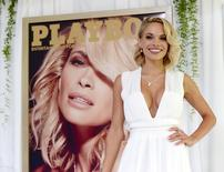 Dani Mathers, 28, the 2015 Playmate of the Year, poses during a luncheon on the garden grounds of the Playboy Mansion in Los Angeles, California May 14, 2015. REUTERS/Kevork Djansezian