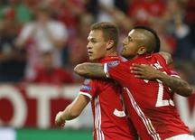 Joshua Kimmich comemora gol do Bayern de Munique. 13/9/16      REUTERS/Michaela Rehle