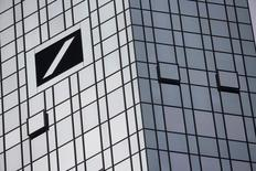 The Deutsche Bank headquarters are seen in Frankfurt, Germany October 29, 2015. REUTERS/Kai Pfaffenbach/File Photo