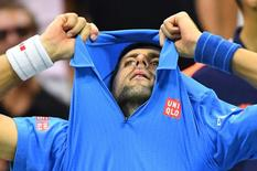 Número 1 do mundo, Novak Djokovic.    11/09/2016       Robert Deutsch-USA TODAY Sports