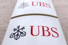 The logo of UBS bank is seen in Brussels June 20, 2014. REUTERS/Francois Lenoir/File Photo