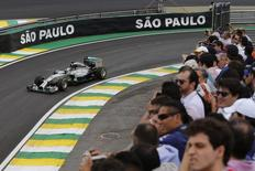 Hamilton durante o GP Brasil, em Interlagos. 8/11/2014. REUTERS/Nacho Doce