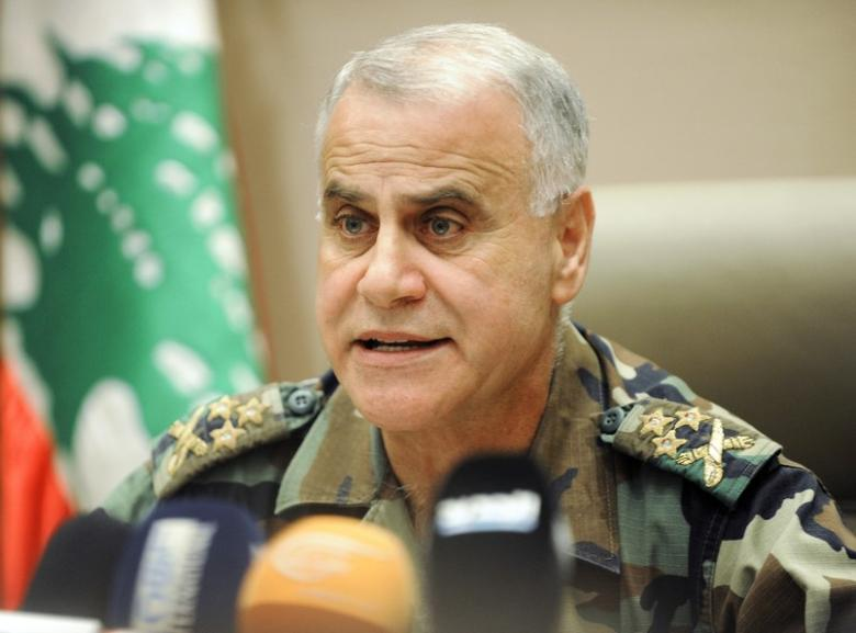Lebanon's army chief General Jean Kahwaji talks during a news conference in Beirut August 3, 2014. REUTERS/Hussam Chbaro