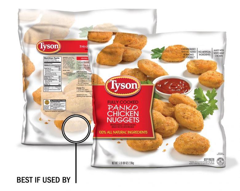 Undated handout illustration of Tyson Foods' panko chicken nuggets. REUTERS/Handout/Tyson Foods