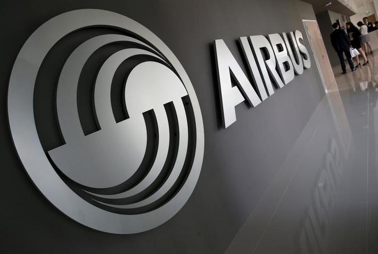An Airbus signage is pictured at the new Airbus Asia Training Centre in Singapore April 18, 2016. REUTERS/Edgar Su