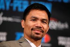 Boxeador filipino Manny em Beverly Hills, nos EUA. 08/09/2016 REUTERS/Lucy Nicholson