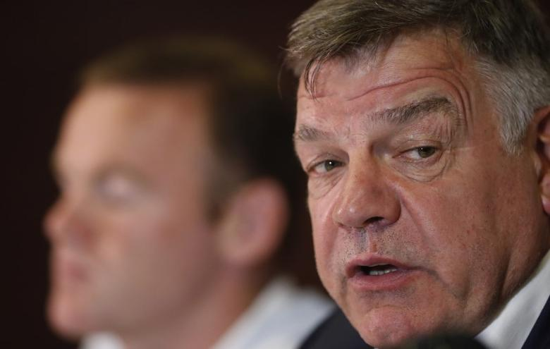 Football Soccer - England Press Conference - Holiday Inn, Trnava, Slovakia - 3/9/16England manager Sam Allardyce and Wayne Rooney during the press conferenceAction Images via Reuters / Carl Recine/ Livepic/Files
