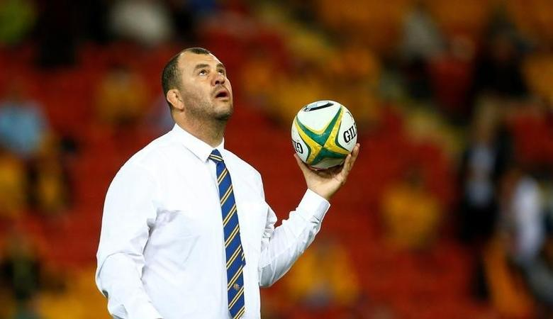 Rugby Union - Rugby Test - England v Australia's Wallabies  - Brisbane, Australia - 11/06/16.  Australia's rugby coach Michael Cheika on the pitch before their match.   REUTERS/Jason O'Brien