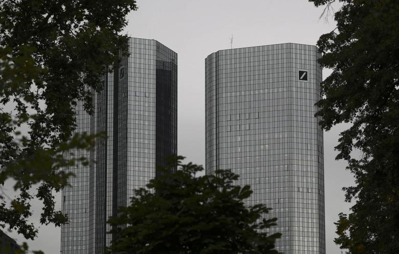 The headquarters of Germany's Deutsche Bank are photographed in Frankfurt, Germany, September 30, 2016.     REUTERS/Kai Pfaffenbach